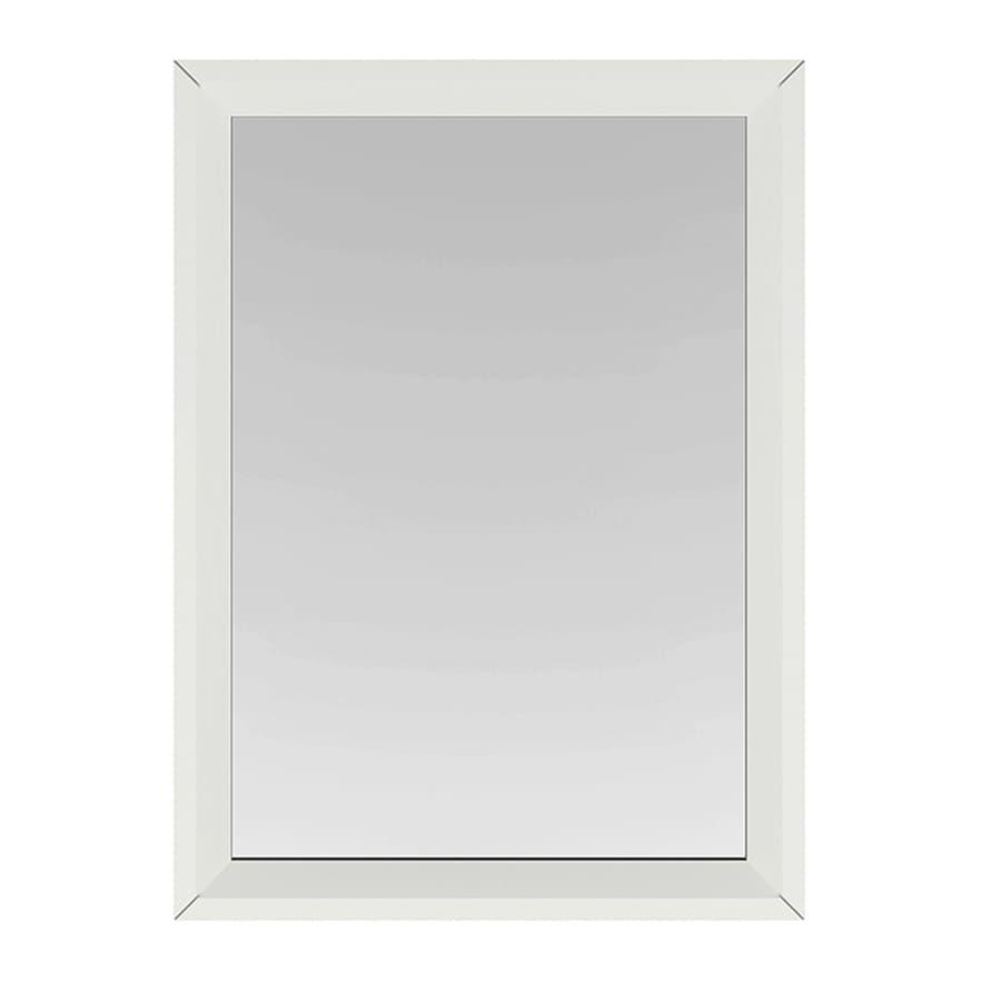 Scott living scott living robinson 22 in white rectangular bathroom mirror at for White rectangular bathroom mirror
