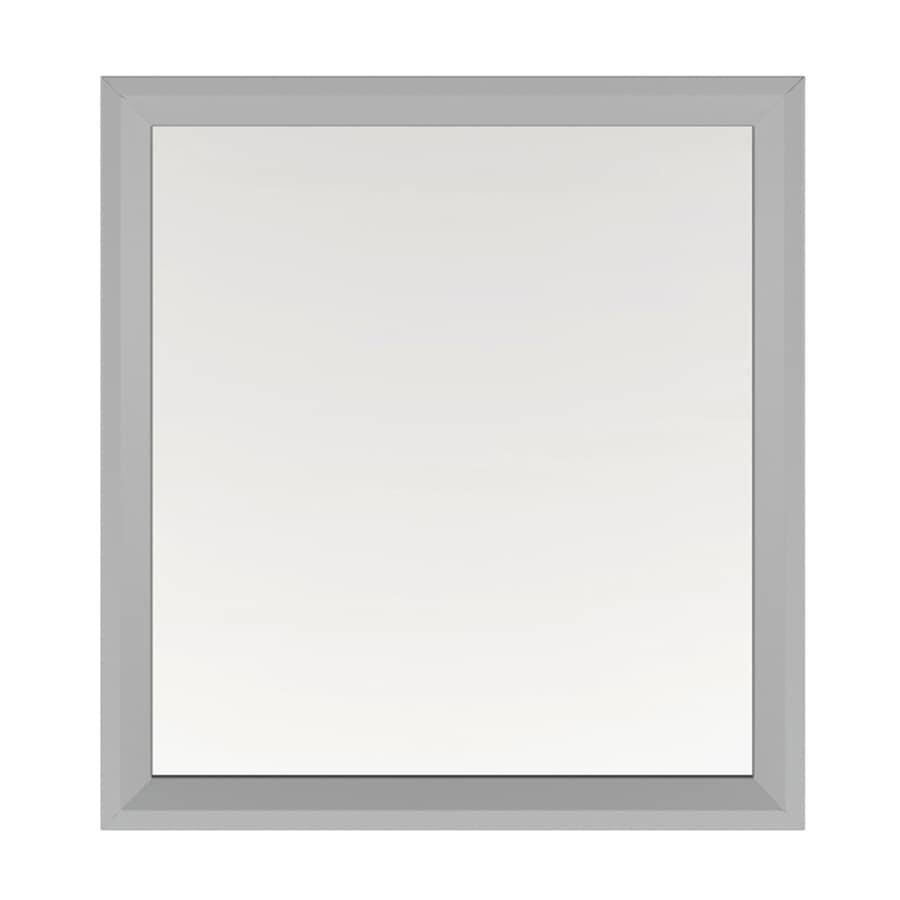 Scott Living Scott Living Robinson 28-in Light Gray Rectangular Bathroom Mirror At Lowes.com