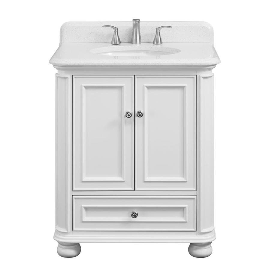 Scott Living Wrightsville 30-in White Single Sink Bathroom ...