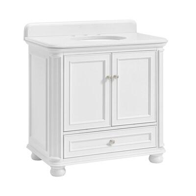 Prime Wrightsville 36 In White Single Sink Bathroom Vanity With White Quartz Top Machost Co Dining Chair Design Ideas Machostcouk