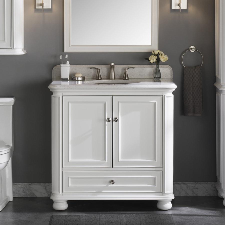 Scott Living Wrightsville 36-in White Single Sink Bathroom ...