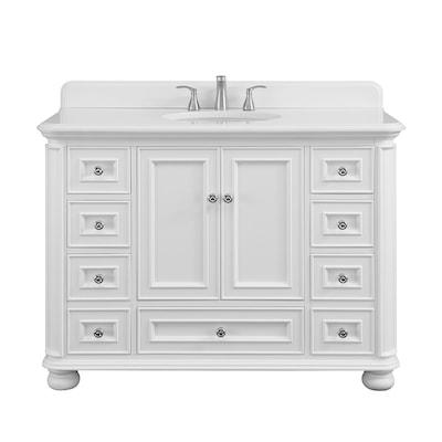 Scott Living Wrightsville 48 In White Single Sink Bathroom Vanity