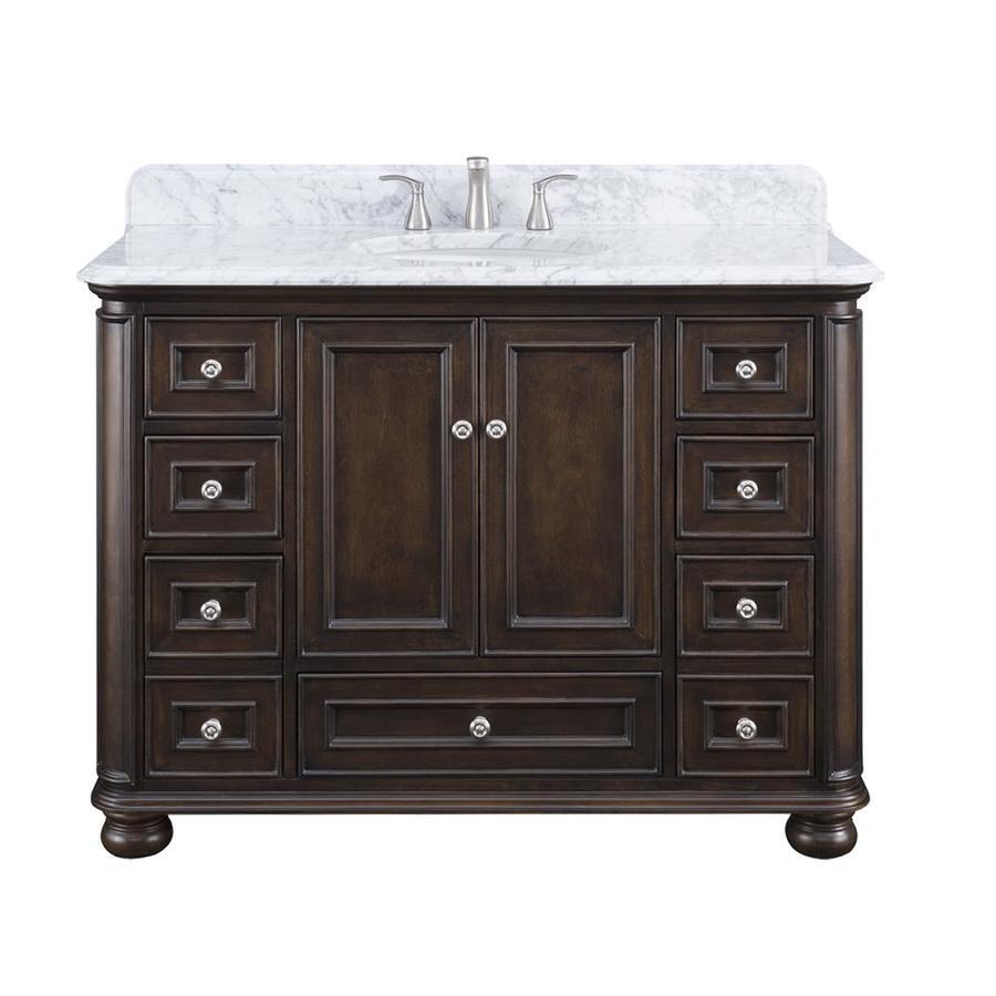 Shop Scott Living Wrightsville Mahogany Single Sink Vanity