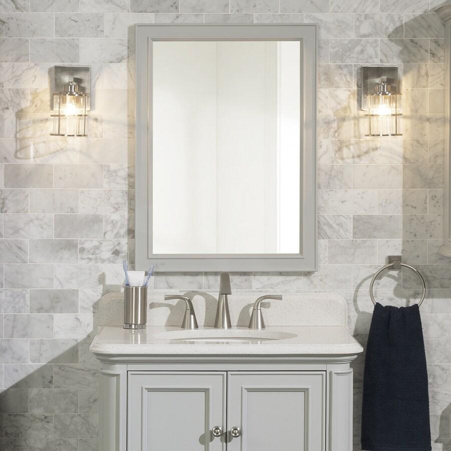 Scott Living Scott Living Wrightsville 22-in Light Gray Rectangular Bathroom Mirror At Lowes.com