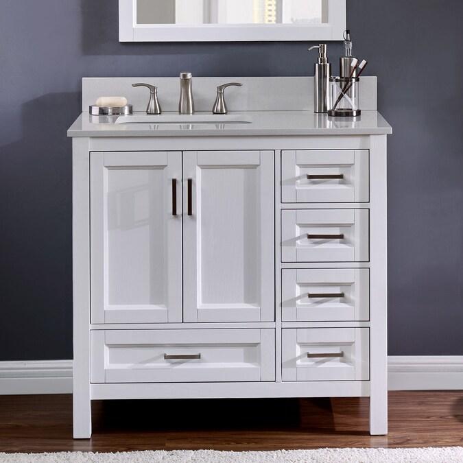 Durham 36 In White Oak Undermount Single Sink Bathroom Vanity With Terrazzo Engineered Stone Top In The Bathroom Vanities With Tops Department At Lowes Com