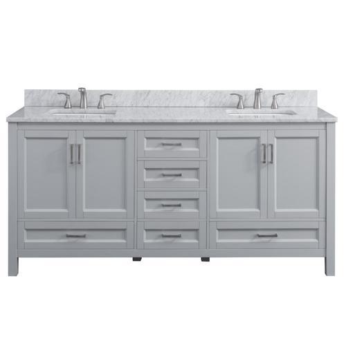 Scott Living Durham 72 In Light Gray Double Sink Bathroom Vanity