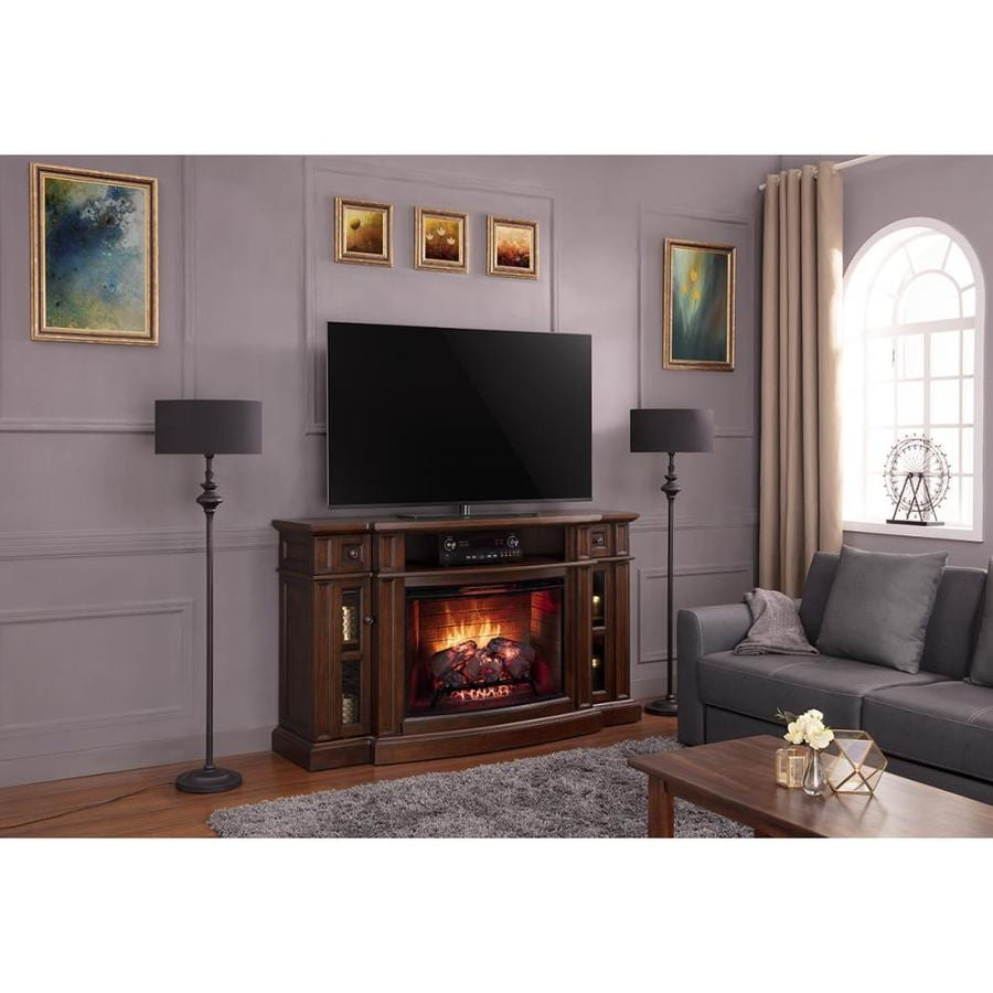 Scott living 68 in w chestnut infrared quartz electric - Does a living room need a fireplace ...