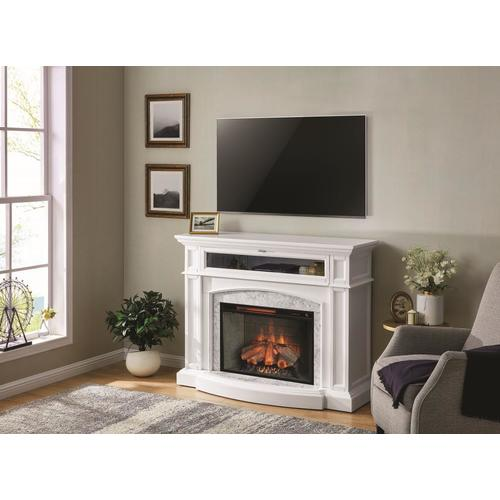 breathtaking living room fireplace electric | Scott Living 52.5-in W White Infrared Quartz Electric ...