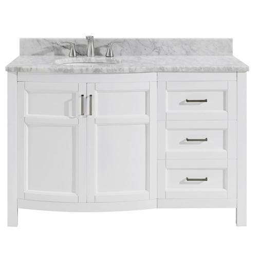 48 Inch Bathroom Vanity Top Right Side Sink