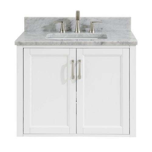 White Single Sink Bathroom Vanity