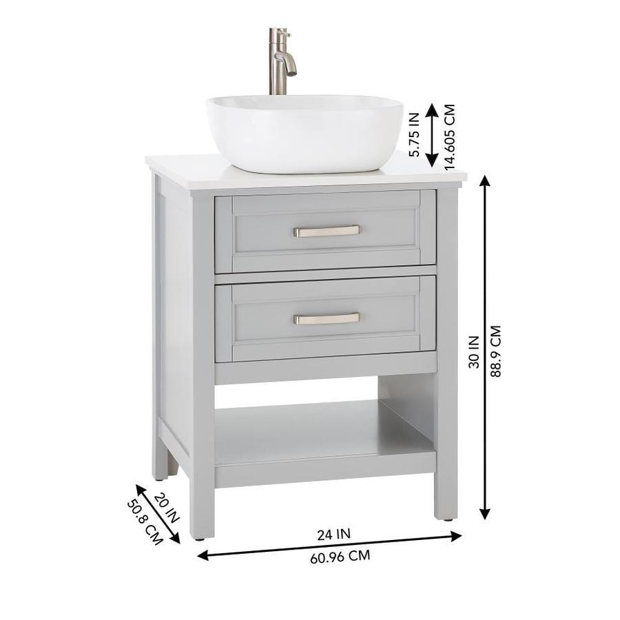 Light Gray Single Sink Bathroom