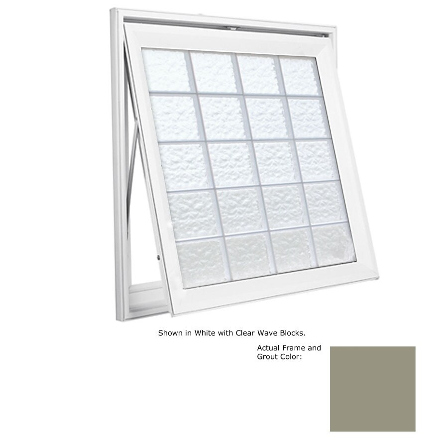 Hy-Lite Design Single Vinyl Double Pane Tempered New Construction Awning Window (Rough Opening: 53.5-in x 53.5-in; Actual: 53-in x 53-in)