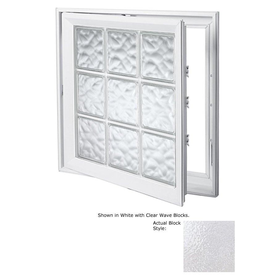 Hy-Lite Design 1-Lite Vinyl Double Pane Tempered New Construction Casement Window (Rough Opening: 21.5-in x 45.5-in Actual: 21-in x 45-in)