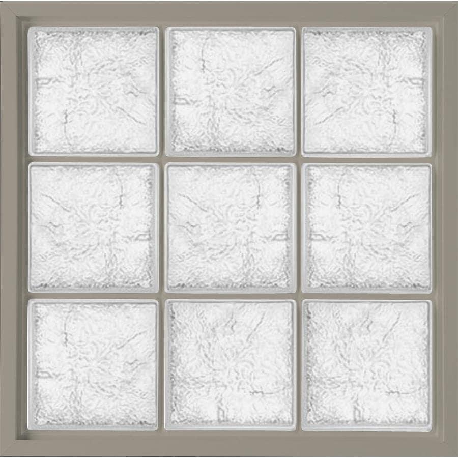 Hy-Lite Vinyl New Construction Glass Block Window (Rough Opening: 47.25-in x 47.25-in; Actual: 46.75-in x 46.75-in)