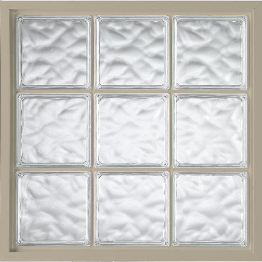 Hy-Lite Vinyl New Construction Glass Block Window (Rough Opening: 47.25-in x 47.25-in; Actual: 46.75-in x 46.75-in)