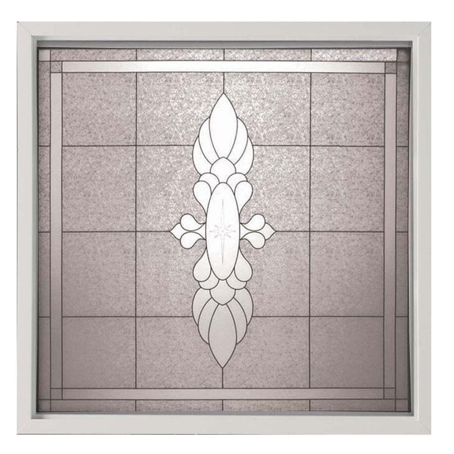 Hy-Lite Decorative Glass Square New Construction Window (Rough Opening: 50.25-in x 50.25-in; Actual: 49.75-in x 49.75-in)