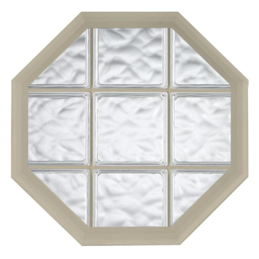 Hy-Lite Design Vinyl New Construction Acrylic Block Window (Rough Opening: 26.5-in x 34.5-in; Actual: 26-in x 34-in)