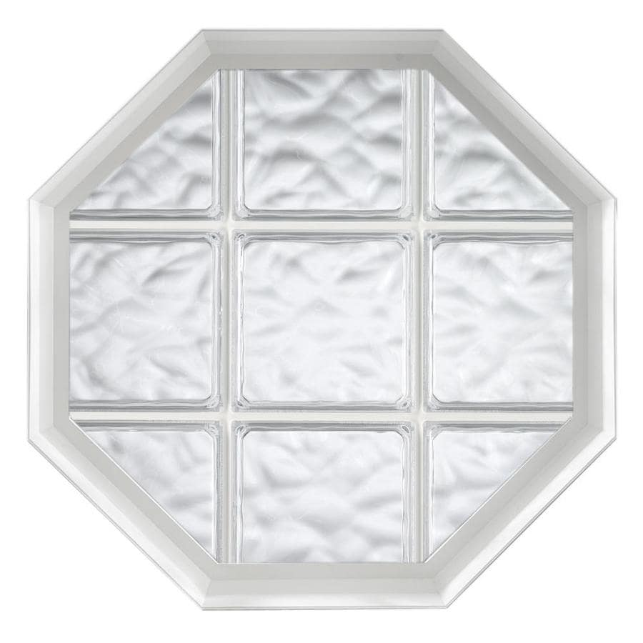 Hy-Lite Design Vinyl New Construction Acrylic Block Window (Rough Opening: 34.5-in x 34.5-in; Actual: 34-in x 34-in)