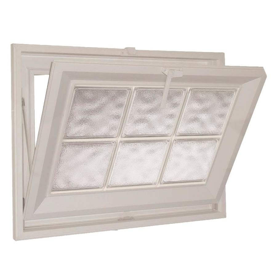 Hy-Lite Classic Tilting Vinyl Double Pane Tempered New Construction Basement Hopper Window (Rough Opening: 25.5-in x 25.5-in Actual: 25-in x 25-in)