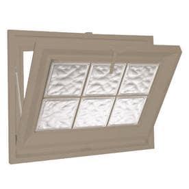 Charmant Hy Lite Classic Tilting Vinyl Double Pane Tempered New Construction Basement  Hopper Window (Rough