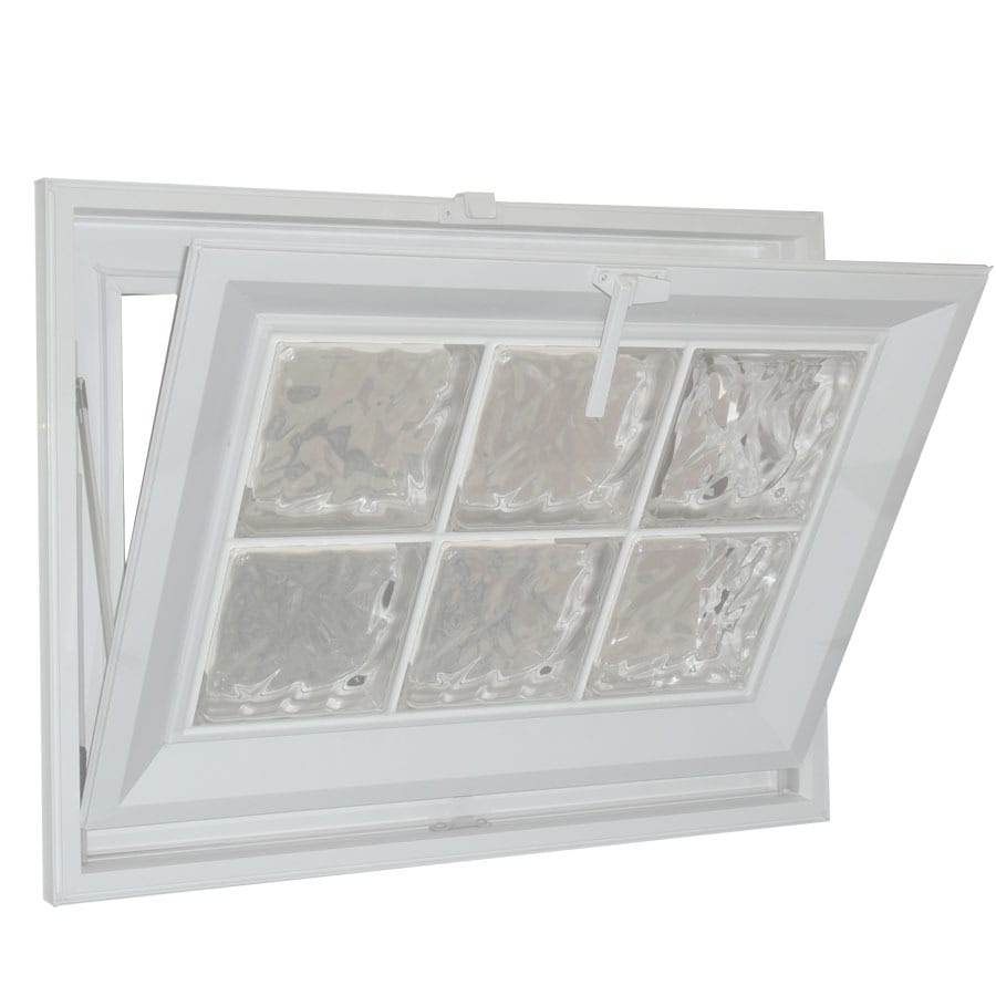 vinyl double pane tempered new construction basement hopper window