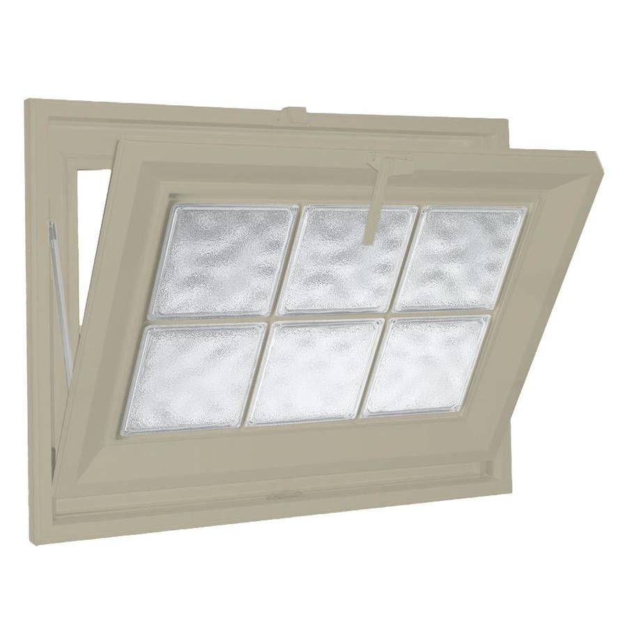 Hy-Lite Classic Tilting Vinyl Double Pane Tempered New Construction Basement Hopper Window (Rough Opening: 23.5-in x 23.5-in Actual: 23-in x 23-in)