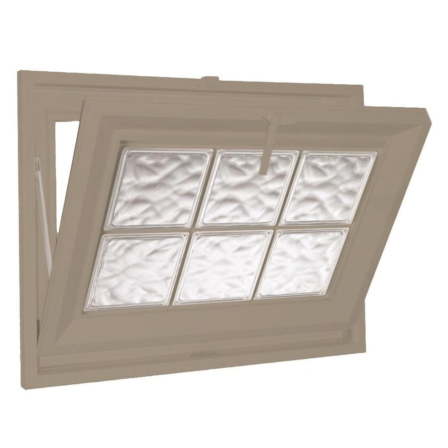 Hy-Lite Classic Tilting Vinyl Double Pane Tempered New Construction Basement Hopper Window (Rough Opening: 39.5-in x 15.5-in Actual: 39-in x 15-in)