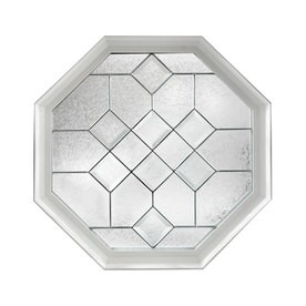 hy lite decorative glass octagon new construction window rough opening 24 in - Decorative Windows