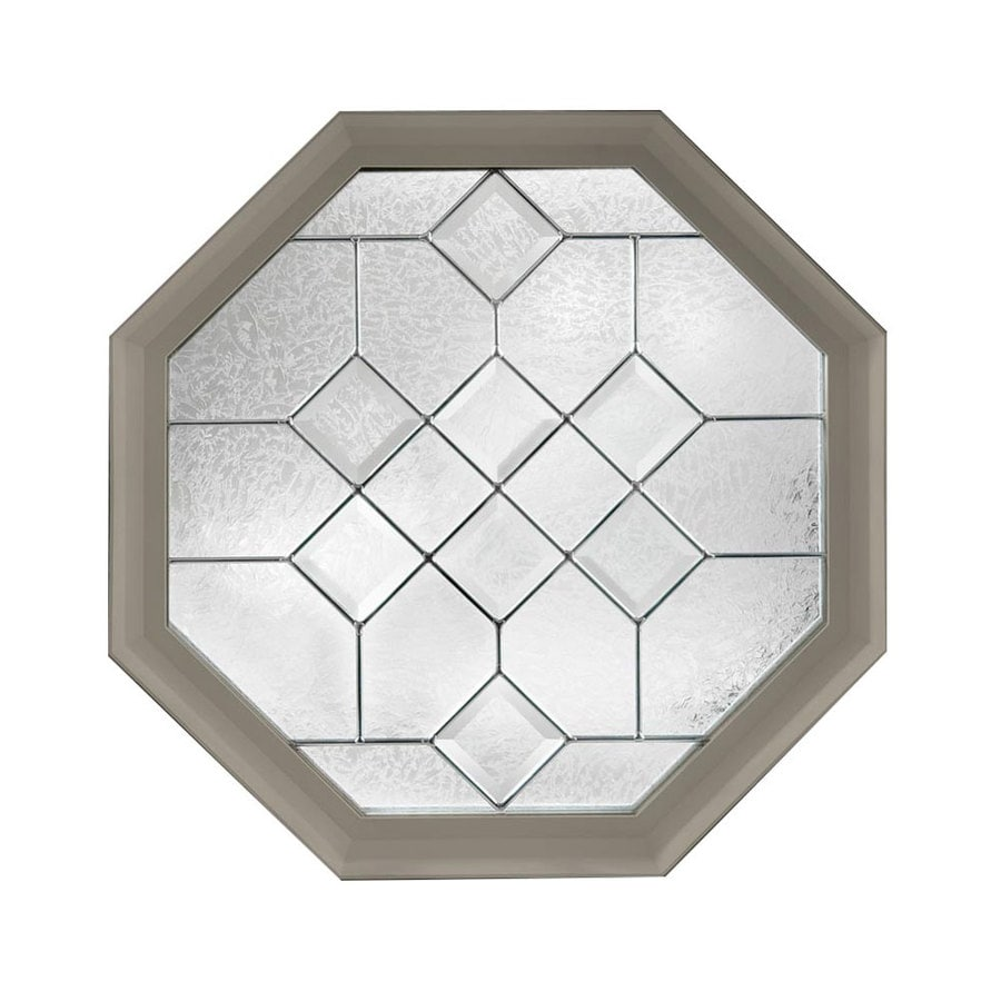 Hy-Lite Decorative Glass Octagon New Construction Window (Rough Opening: 24-in x 24-in; Actual: 23.5-in x 23.5-in)