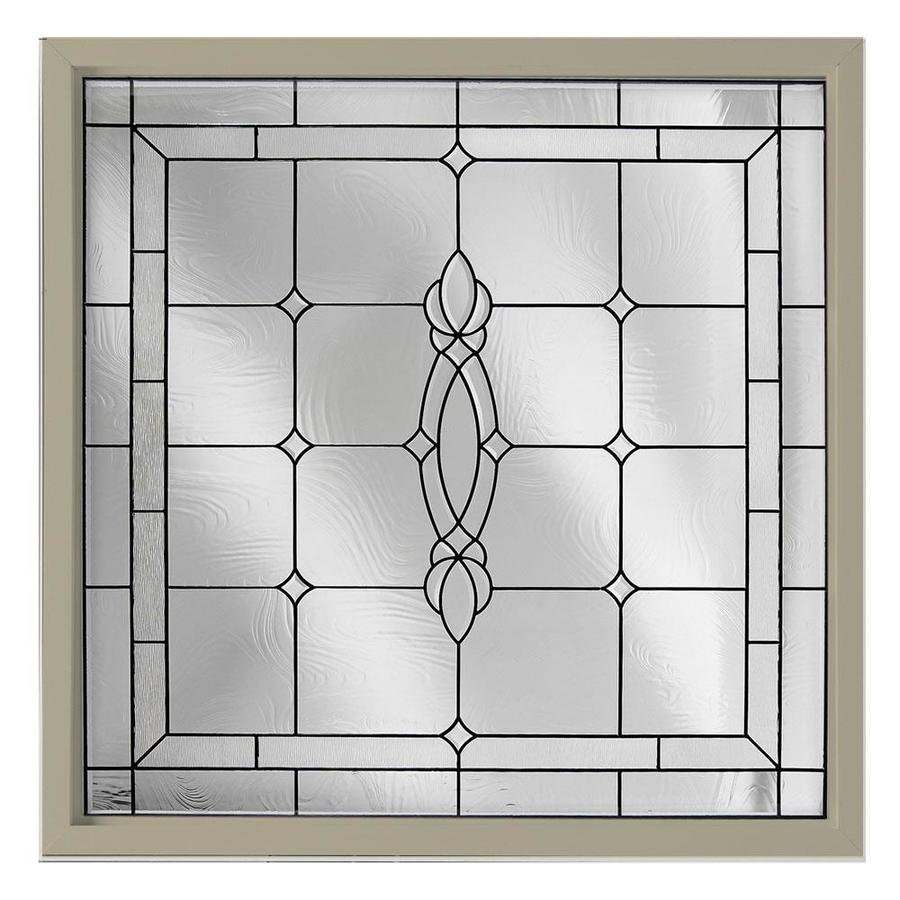 Hy-Lite 25.5-in x 25.5-in Decorative Glass Triple Pane Tempered Square New Construction Window