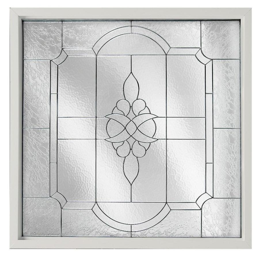 Hy-Lite Decorative Glass Square New Construction Window (Rough Opening: 25.5-in x 25.5-in; Actual: 25-in x 25-in)
