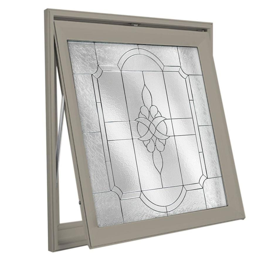 Hy-Lite Decorative Glass Square New Construction Window (Rough Opening: 29-in x 29-in; Actual: 28.5-in x 28.5-in)