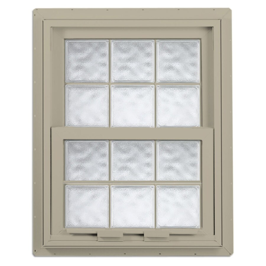 Hy-Lite Design Vinyl Double Pane Tempered Single Hung Window (Rough Opening: 28.675-in x 29.25-in; Actual: 28.125-in x 28.75-in)