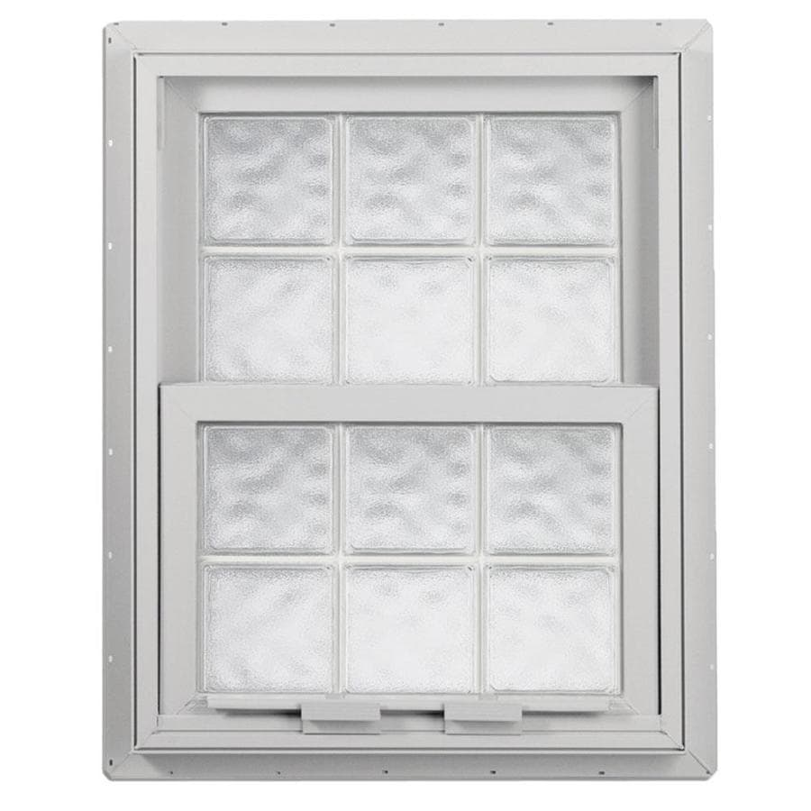 Shop hy lite design vinyl double pane tempered single hung for Single window design