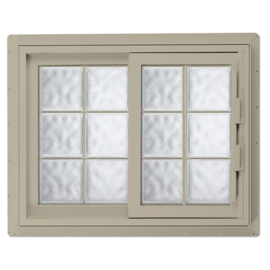 Hy-Lite Design Left-Operable Vinyl Double Pane Tempered New Construction Sliding Window (Rough Opening: 41.25-in x 40.625-in; Actual: 40.75-in x 40.125-in)