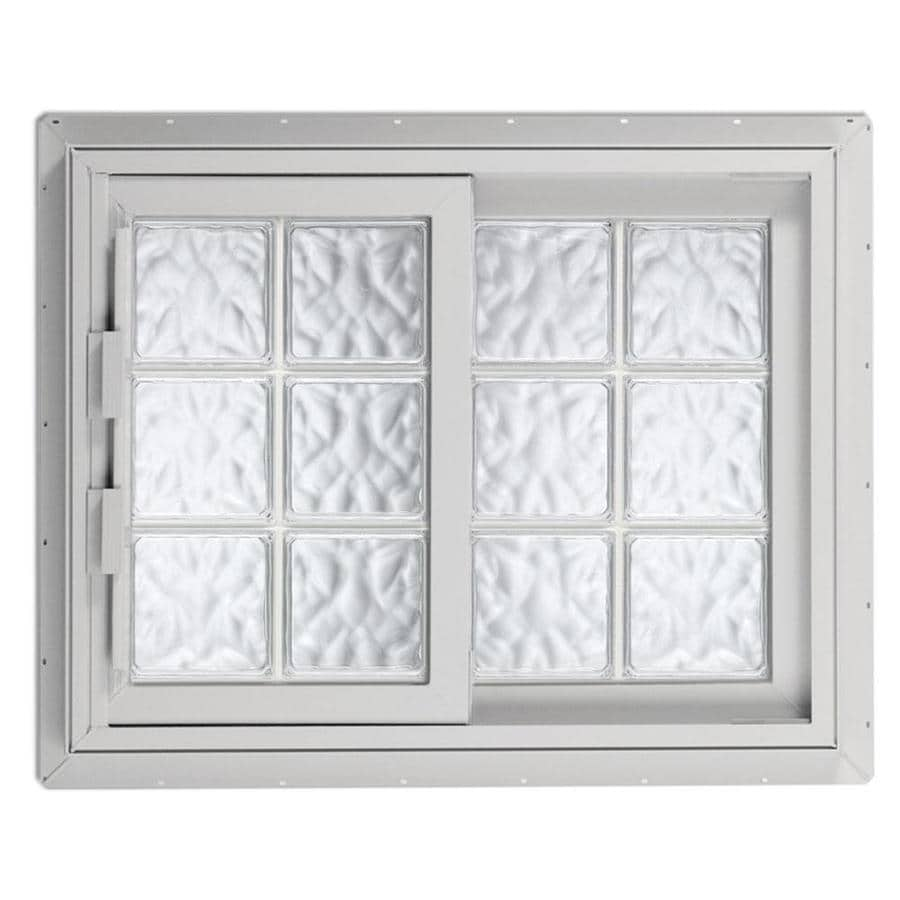 Hy-Lite Design Right-Operable Vinyl Double Pane Tempered New Construction Sliding Window (Rough Opening: 41.25-in x 40.625-in; Actual: 40.75-in x 40.125-in)
