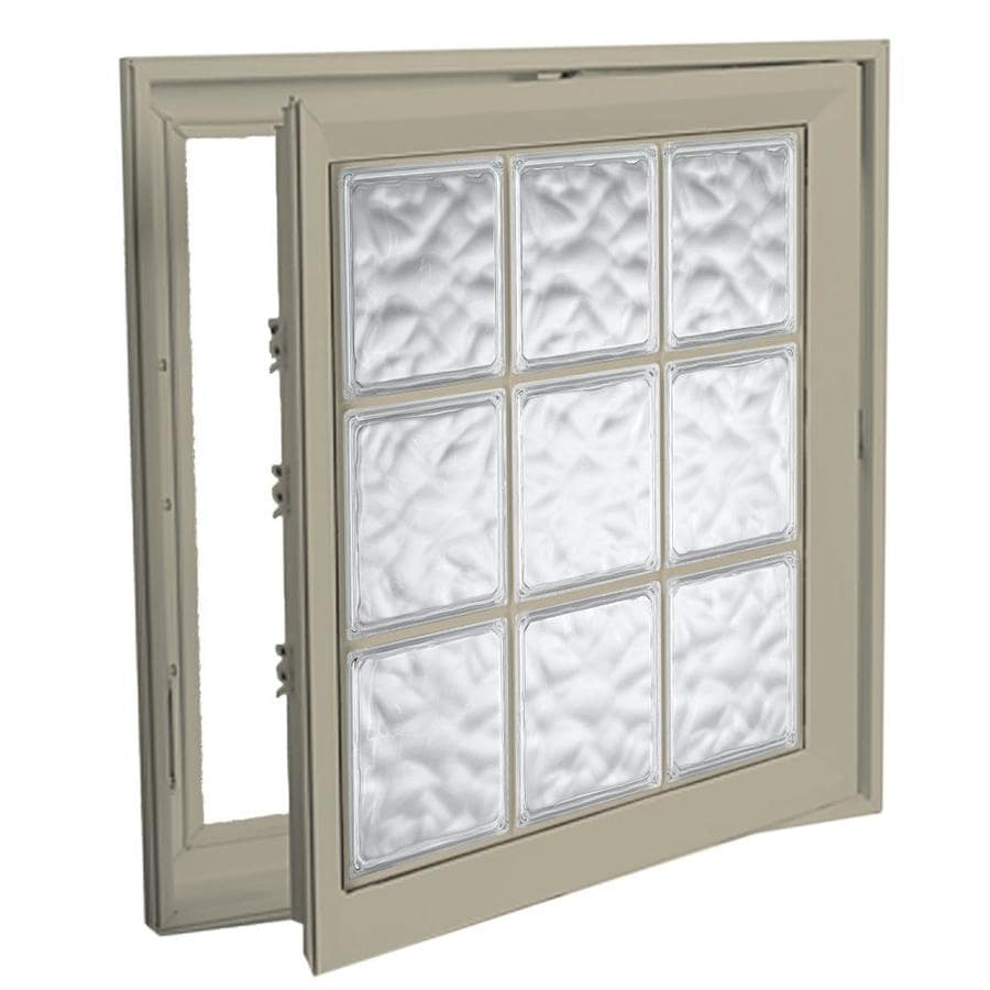 Hy-Lite Deisgn Vinyl Double Pane Tempered New Construction Casement Window (Rough Opening: 22-in x 22-in Actual: 21.5-in x 21.5-in)