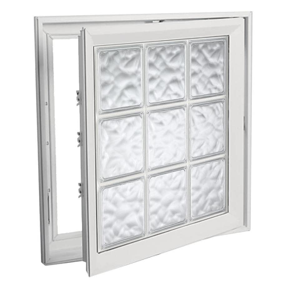 Shop hy lite deisgn vinyl double pane tempered new for Vinyl casement windows