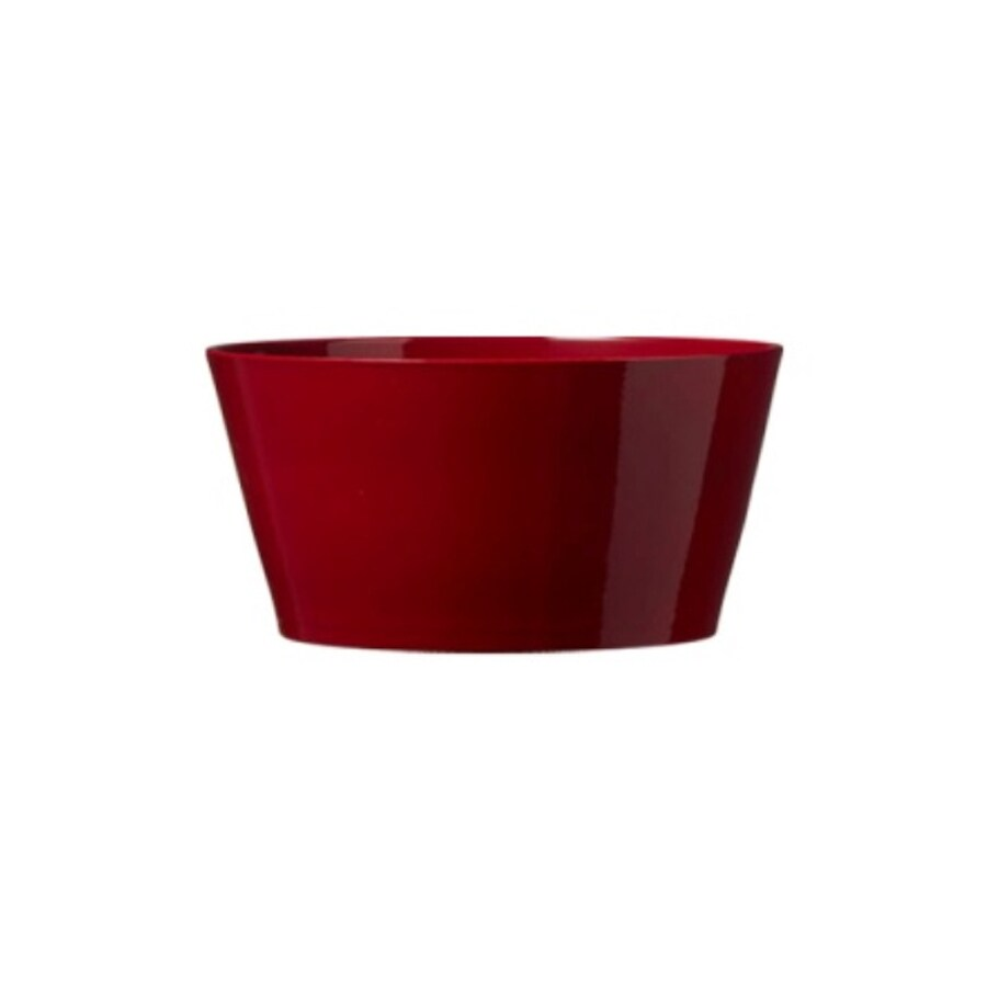 7.75-in x 3.5-in Shiny Bordeaux Ceramic Low Bowl Planter