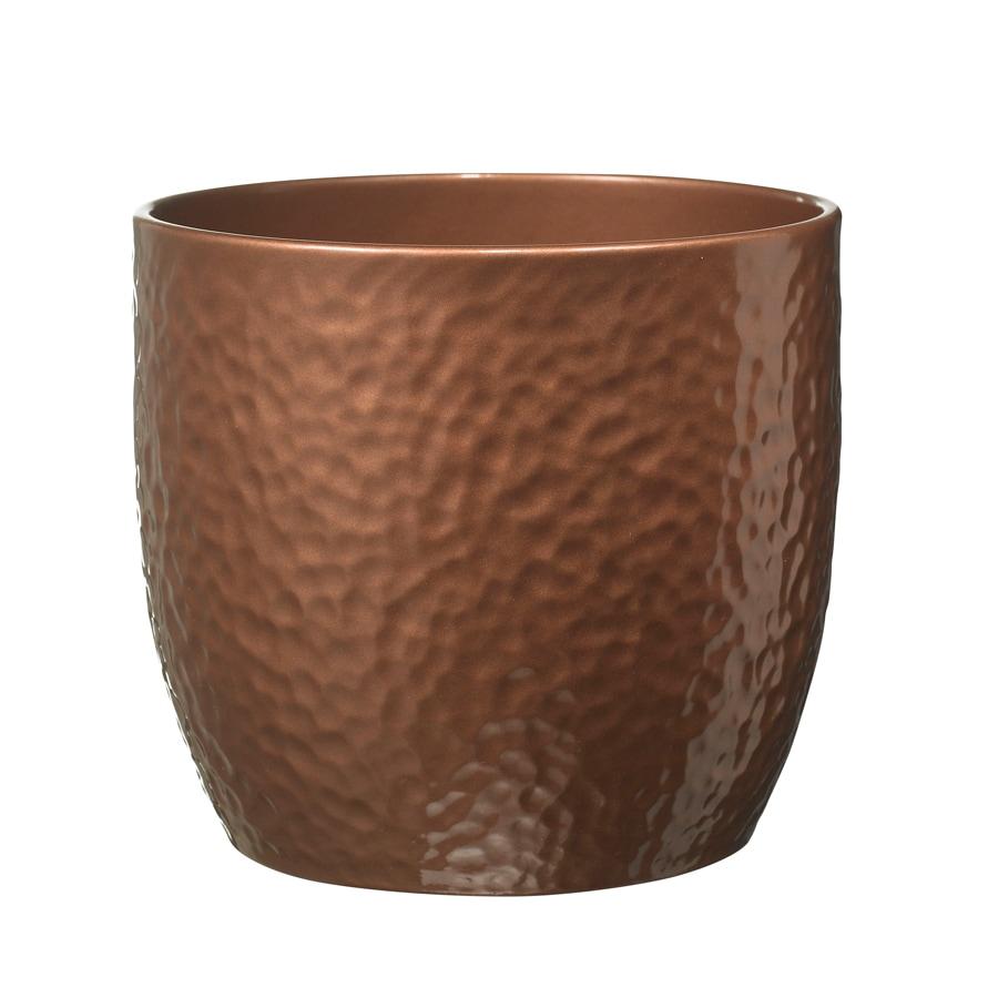 10-in x 8.5-in Copper Ceramic Planter