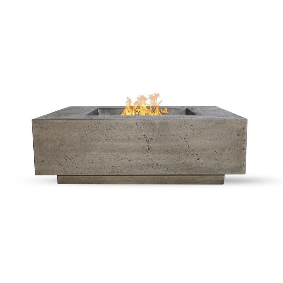 Natco 48 In W 65000 Btu Pewter Pantina Concrete Propane Gas Fire Table In The Gas Fire Pits Department At Lowes Com