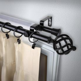 Double Curtain Rod Curtain Rods At Lowes Com