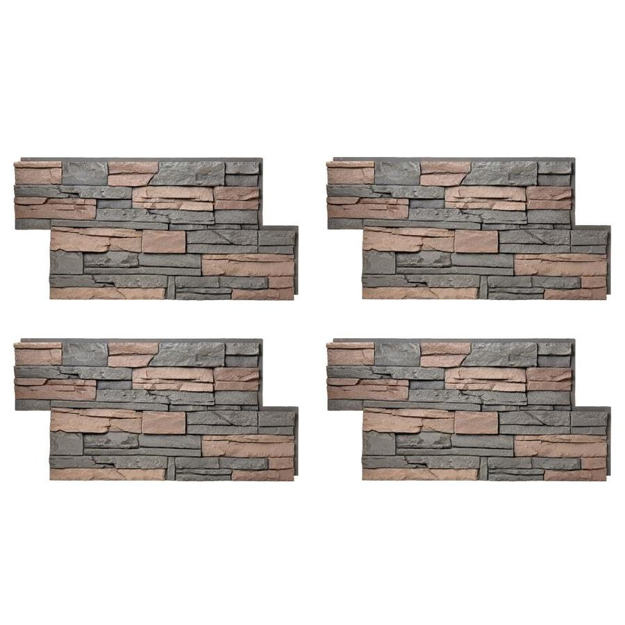 shop stone veneer at lowes com genstone stacked stone 28 sq ft stratford faux stone veneer