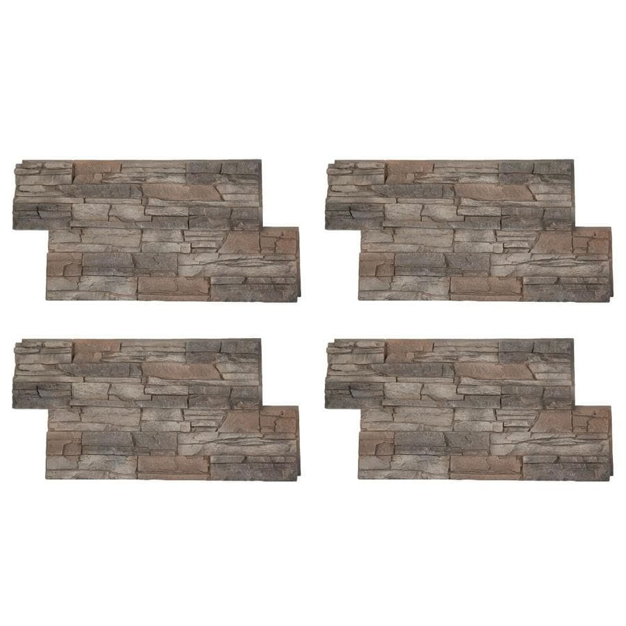 Shop Genstone Stacked Stone 28 Sq Ft Kenai Faux Stone