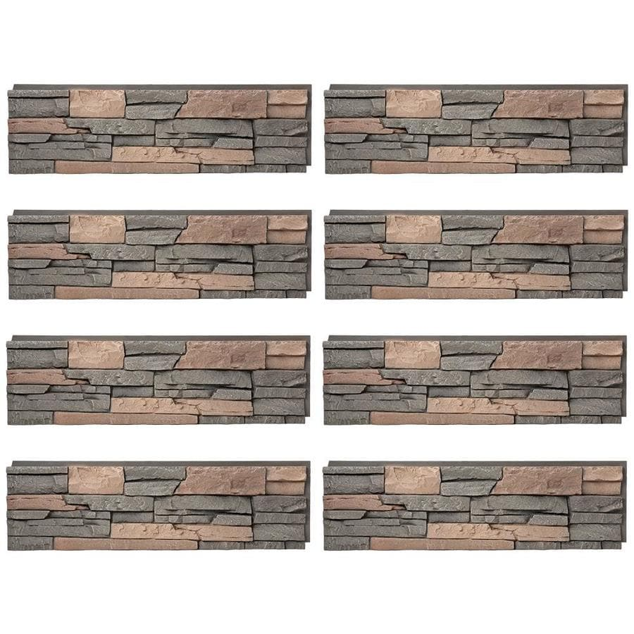 genstone stacked stone 28sq ft stratford faux stone veneer - Faux Stone Veneer