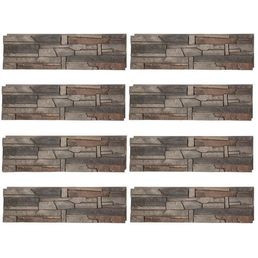 GenStone Stacked Stone 28-sq ft Kenai Faux Stone Veneer