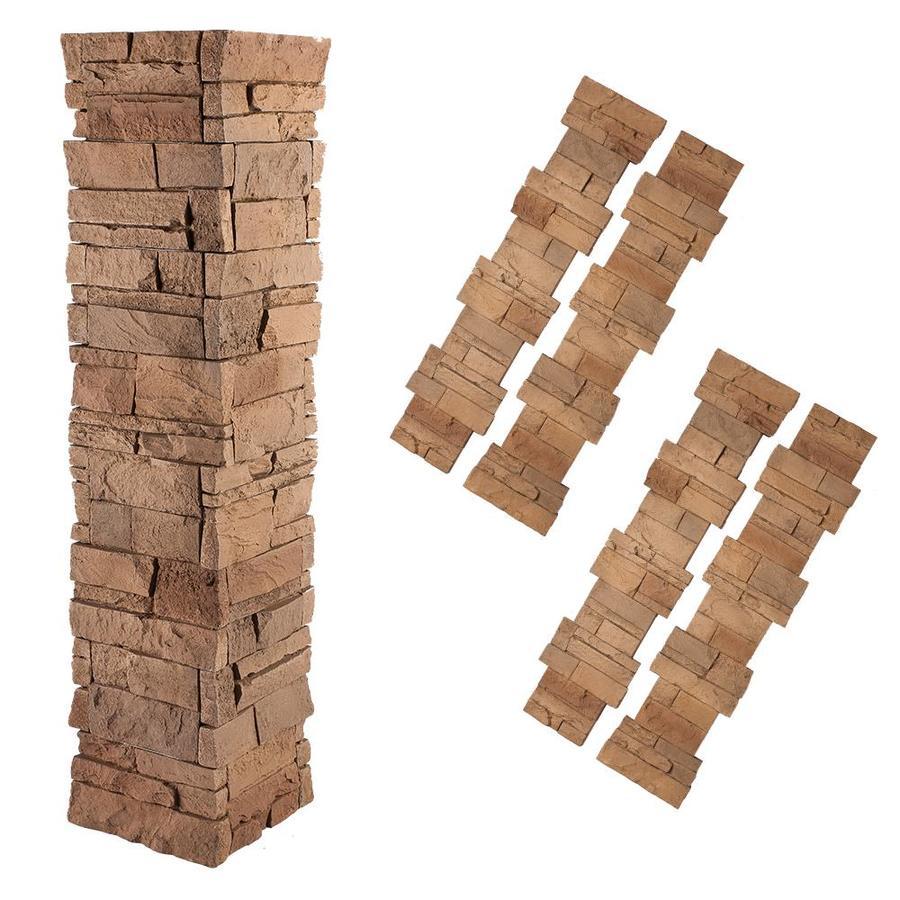 GenStone 4-sq ft Desert Sunrise Faux Stone Veneer