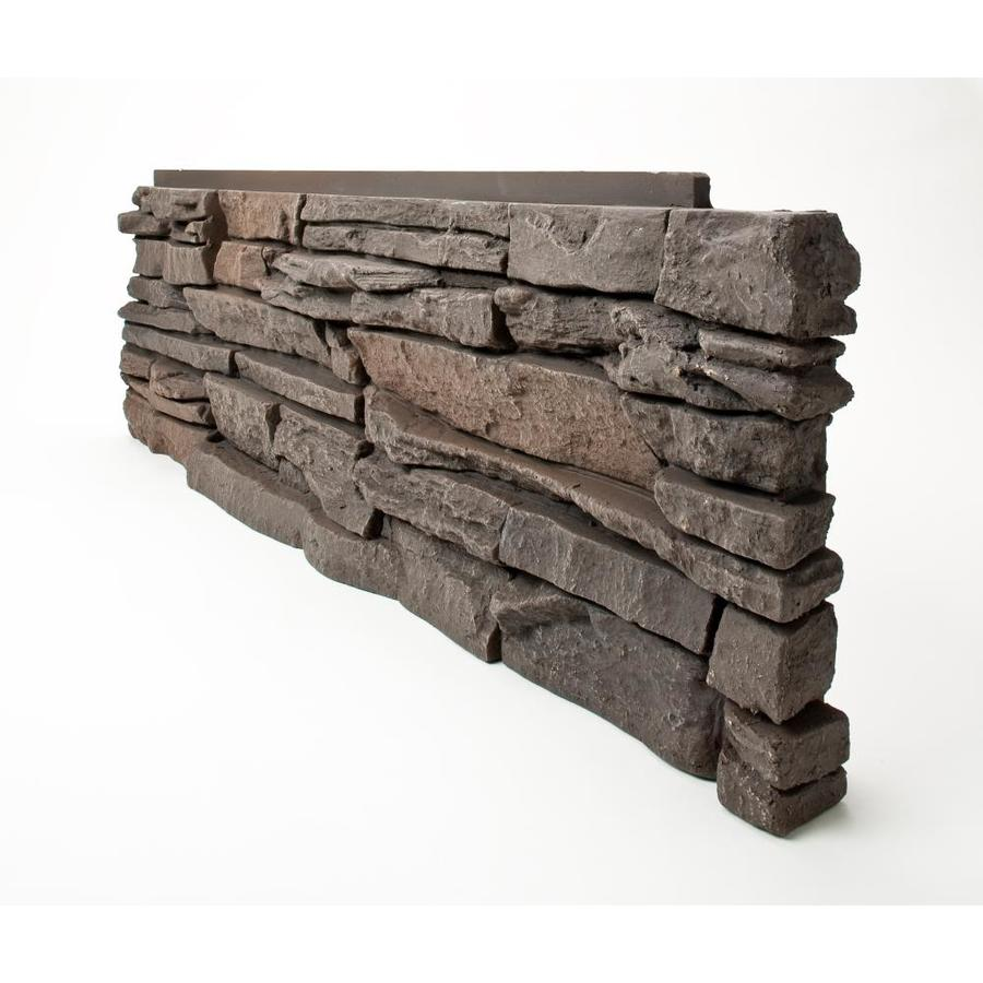 GenStone Stacked Stone 28-sq ft Coffee Faux Stone Veneer
