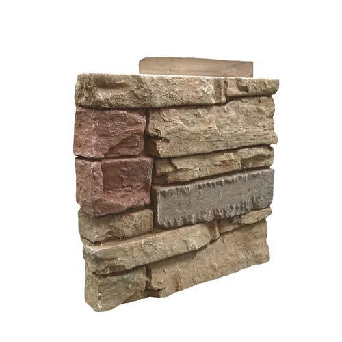 G2 Exterior 1-sq ft Tan/Brown Faux Stone Veneer Panel