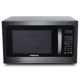 Ft 1100-Watt Microwave Oven with Smart Sensor Cooking Farberware Black FMO13AHTBSE 1.3 Cu ECO Mode and Blue LED Lighting Black Stainless Steel